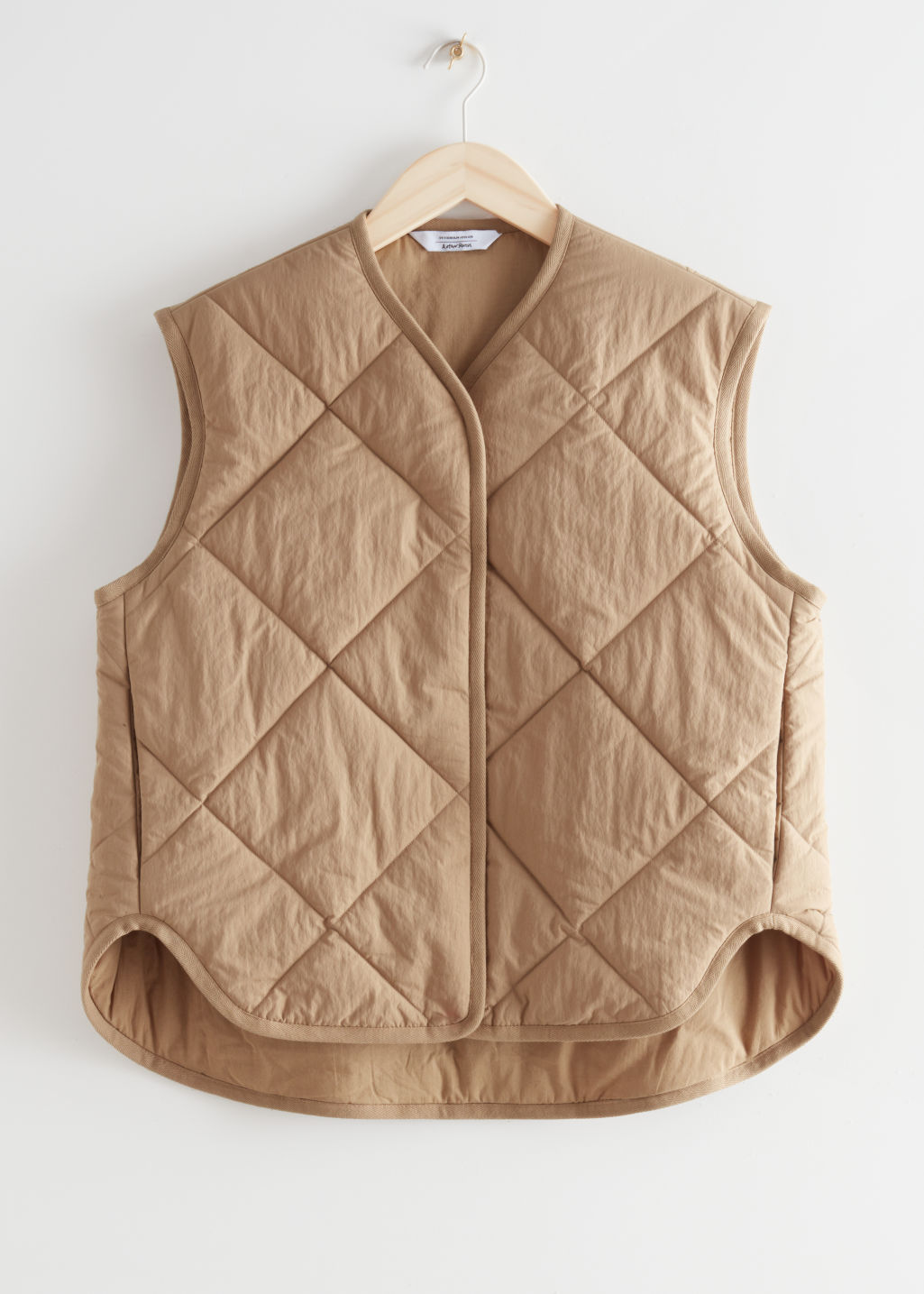 Quilted Padded Vest in beige & other stories