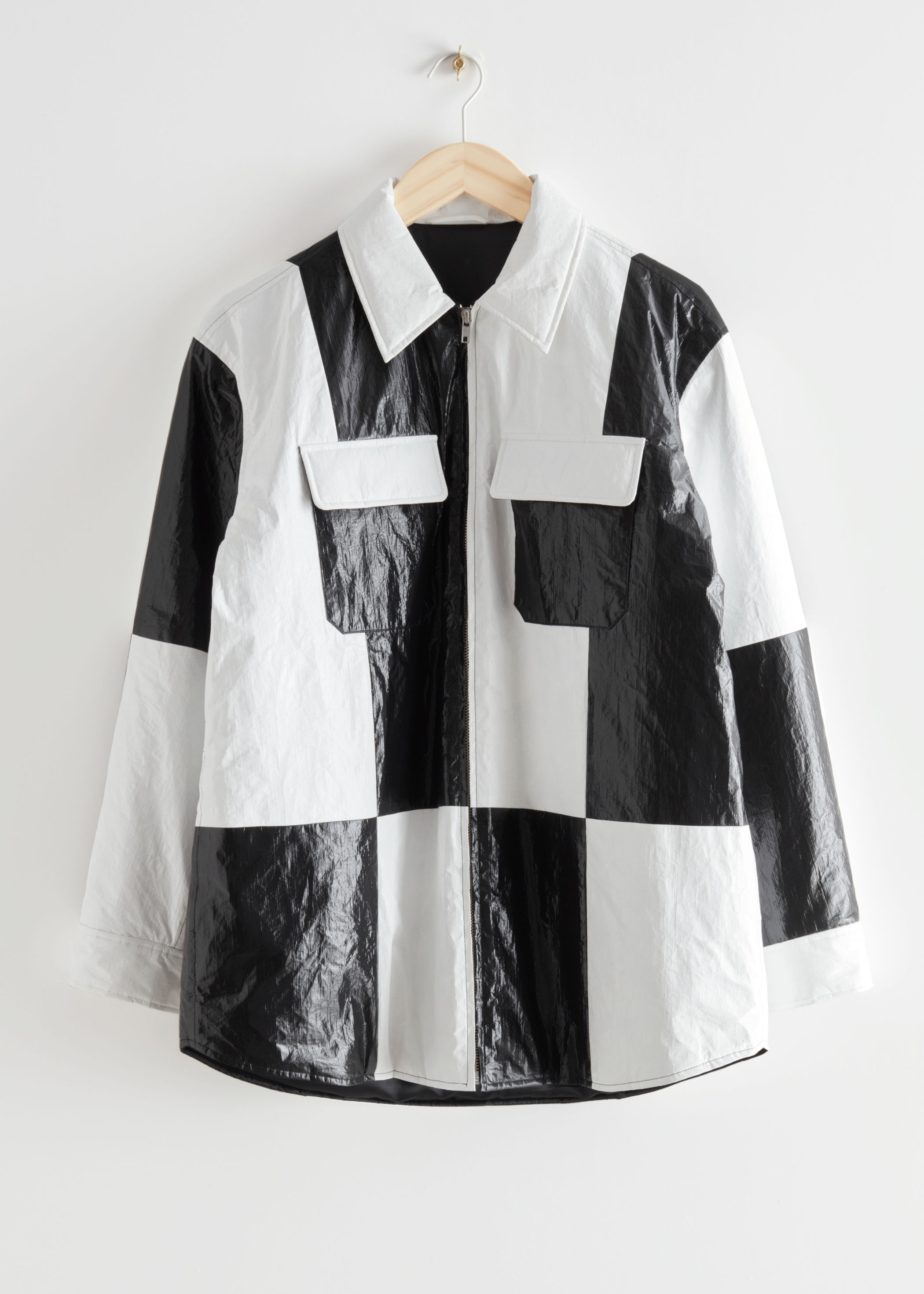 Oversized Colour Block Overshirt & Other Stories