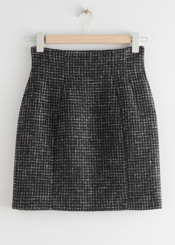 Wool Blend Mini Skirt