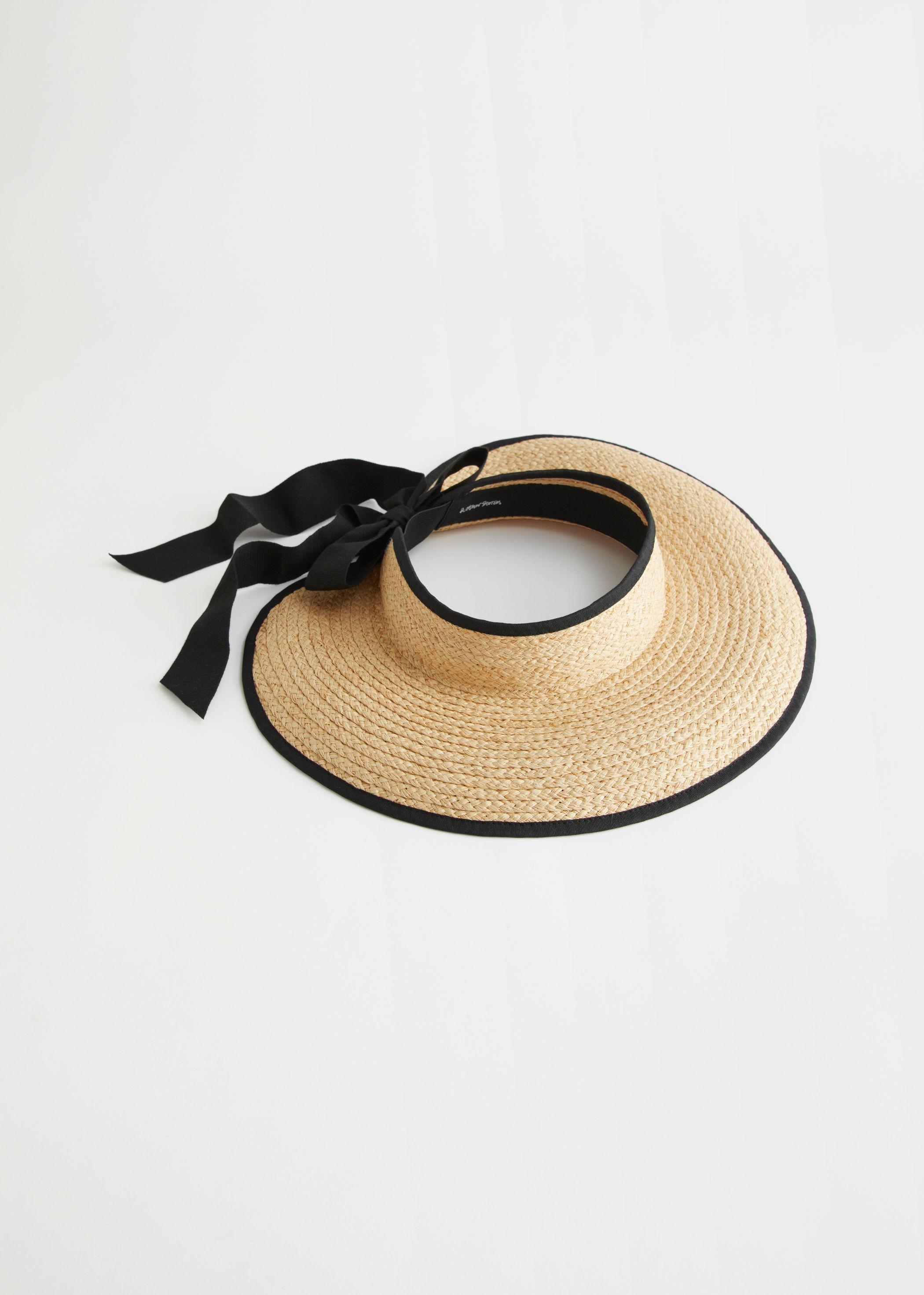 Ribbon Tie Straw Visor Hat & Other Stories