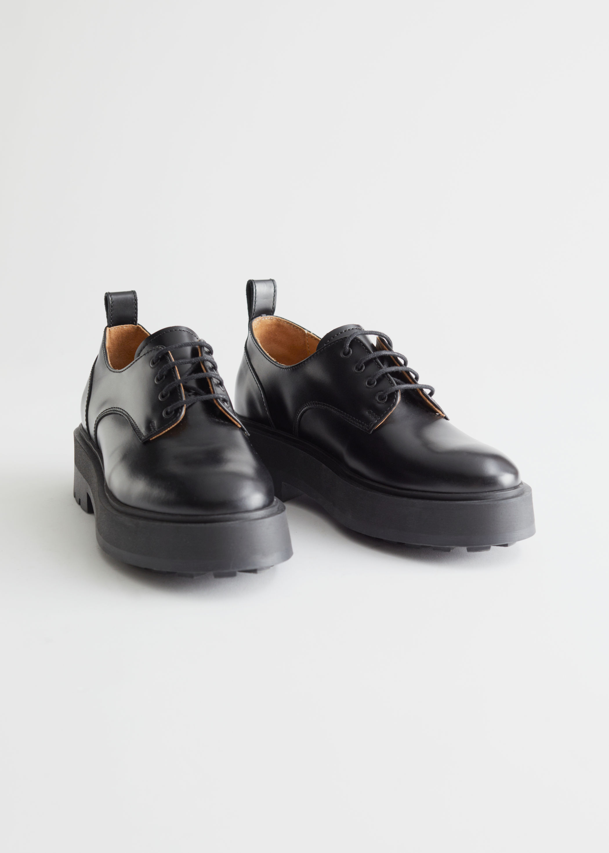 Chunky Leather Oxfords, £120, & Other Stories