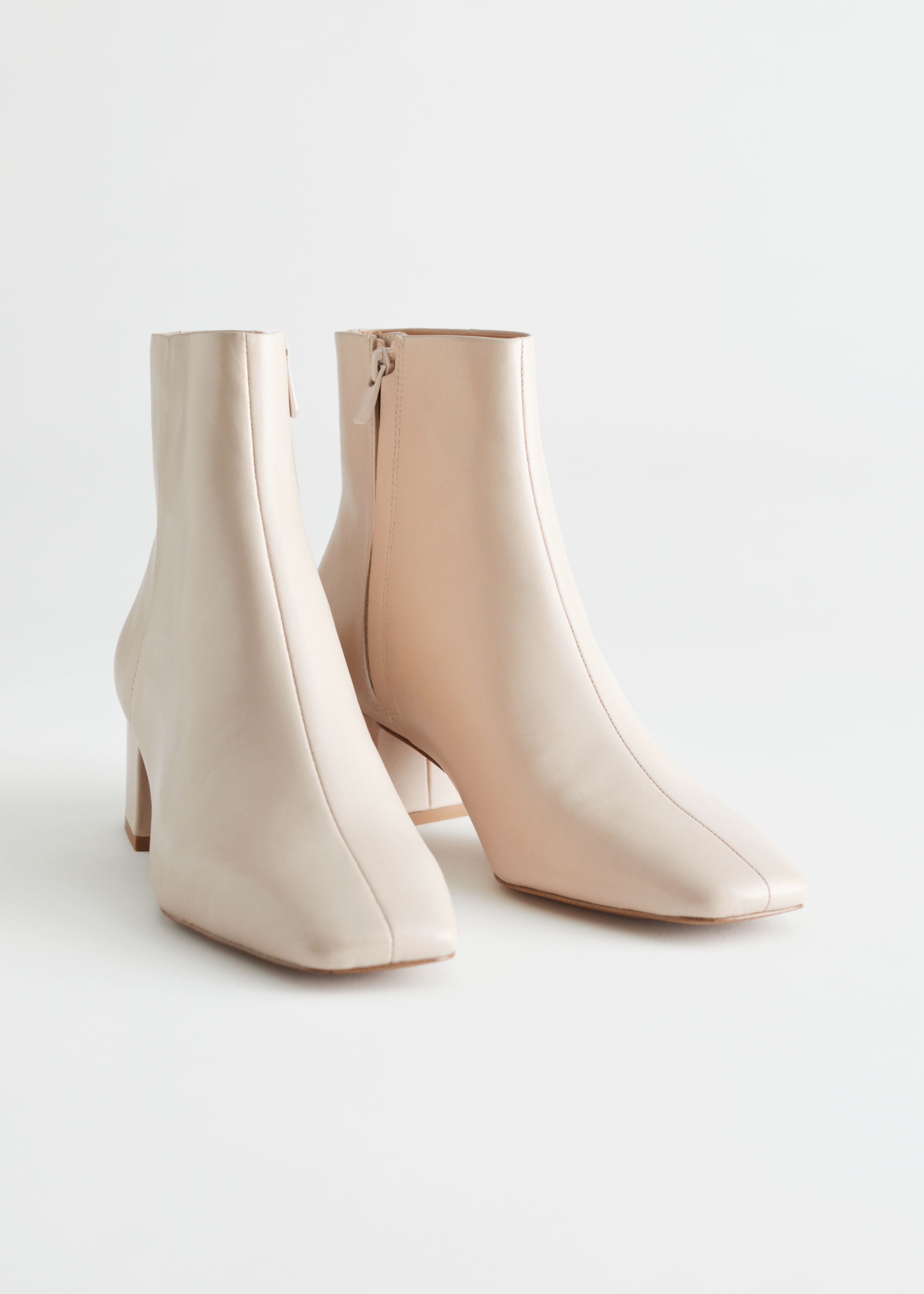 Leather Heeled Ankle Boots £120 & Other Stories