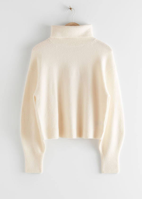 Oversized Cut Out Turtleneck Sweater