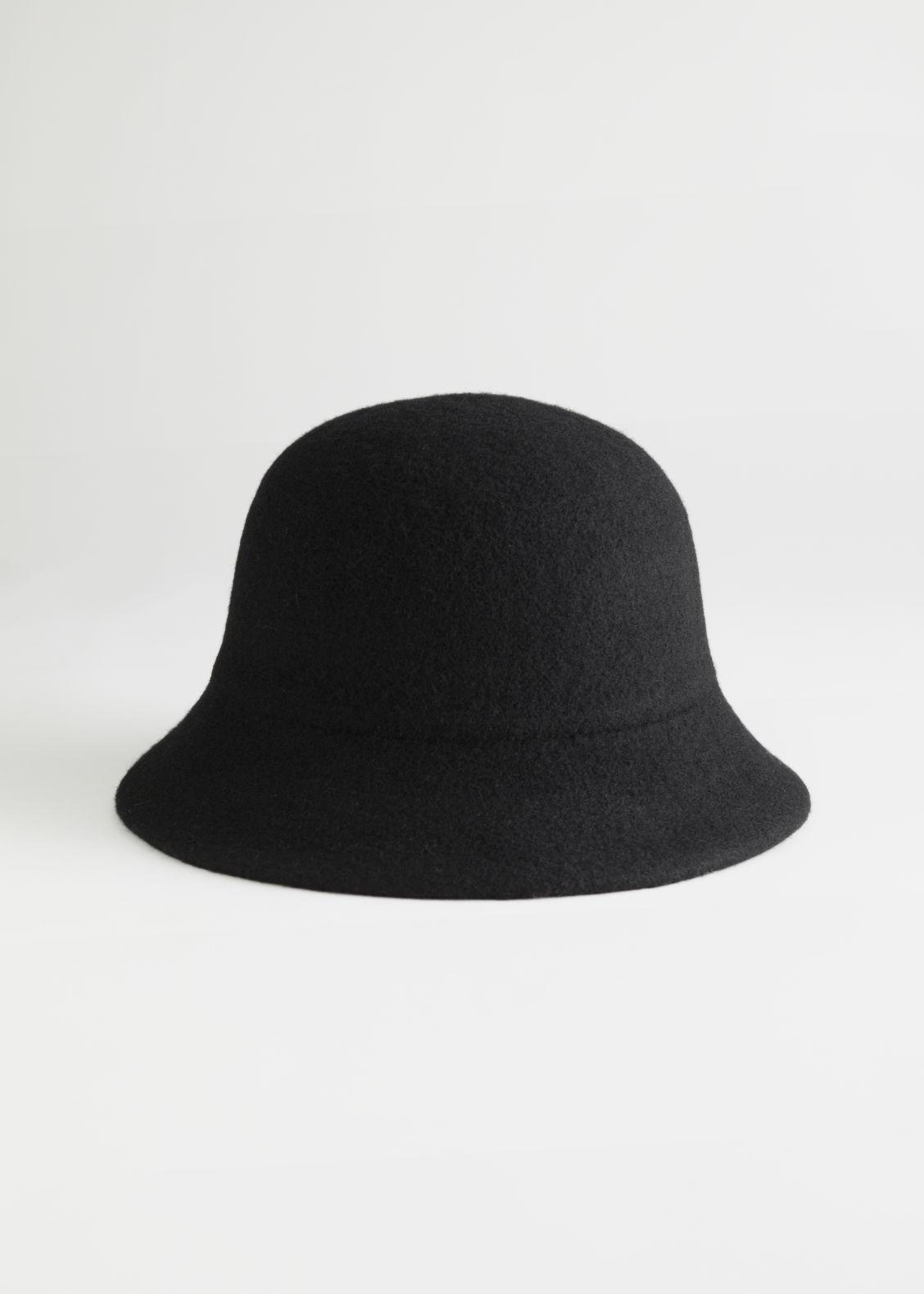 앤 아더 스토리즈 버킷햇 & OTHER STORIES Wool Blend Structured Bucket Hat,Black