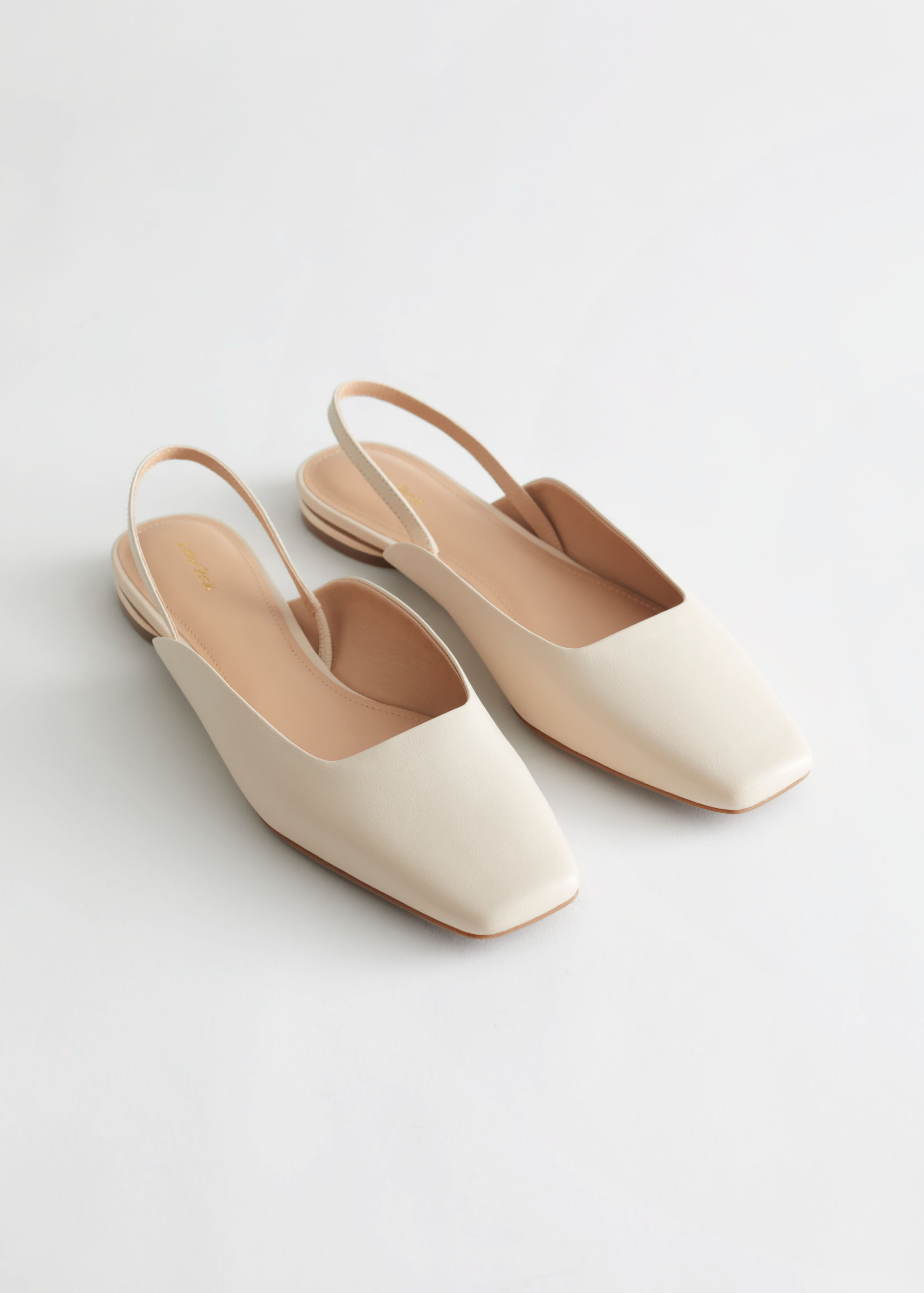 Leather Square Toe Ballerina Flats & Other Stories