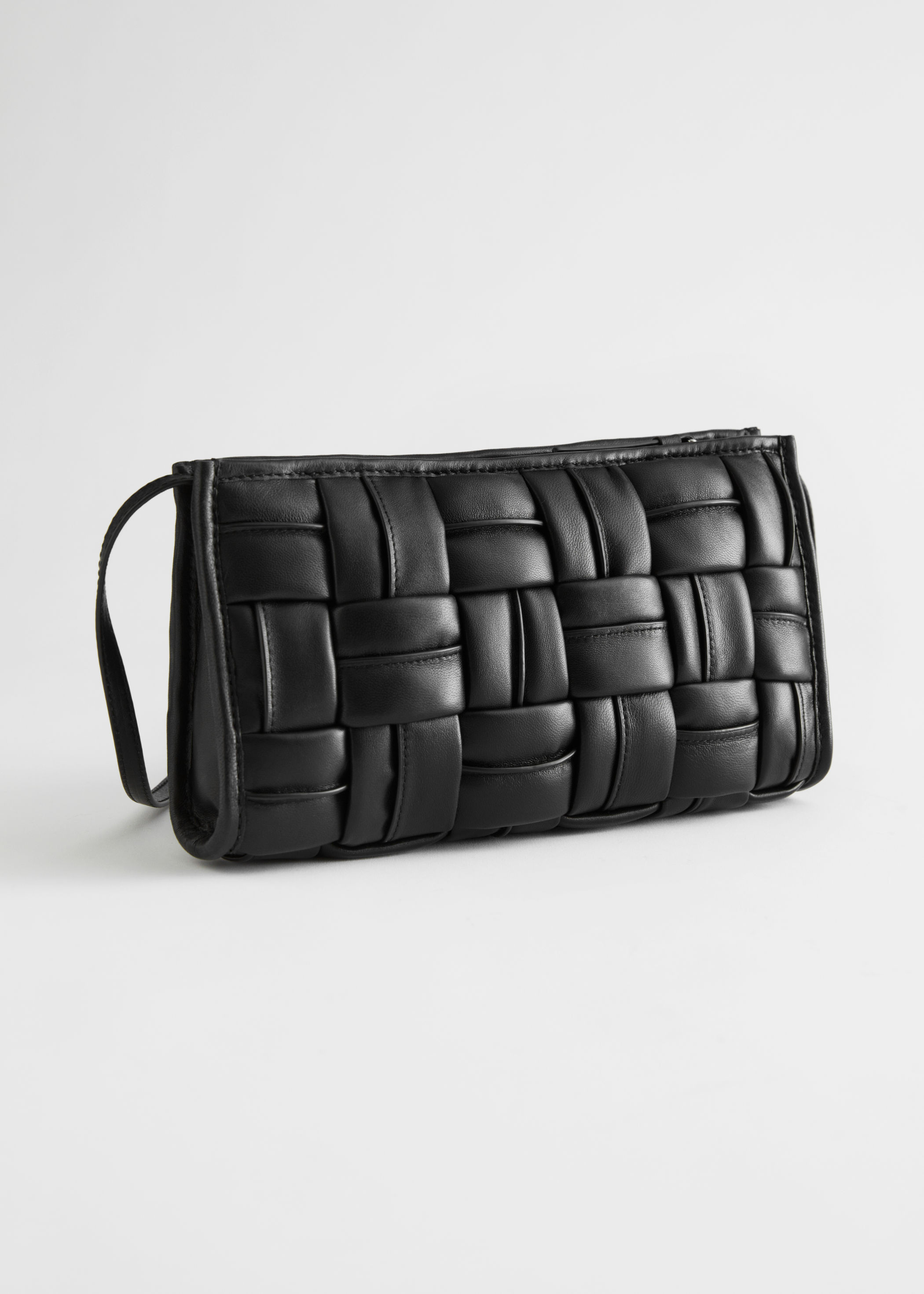 Padded Geometric Leather Shoulder Bag & other stories