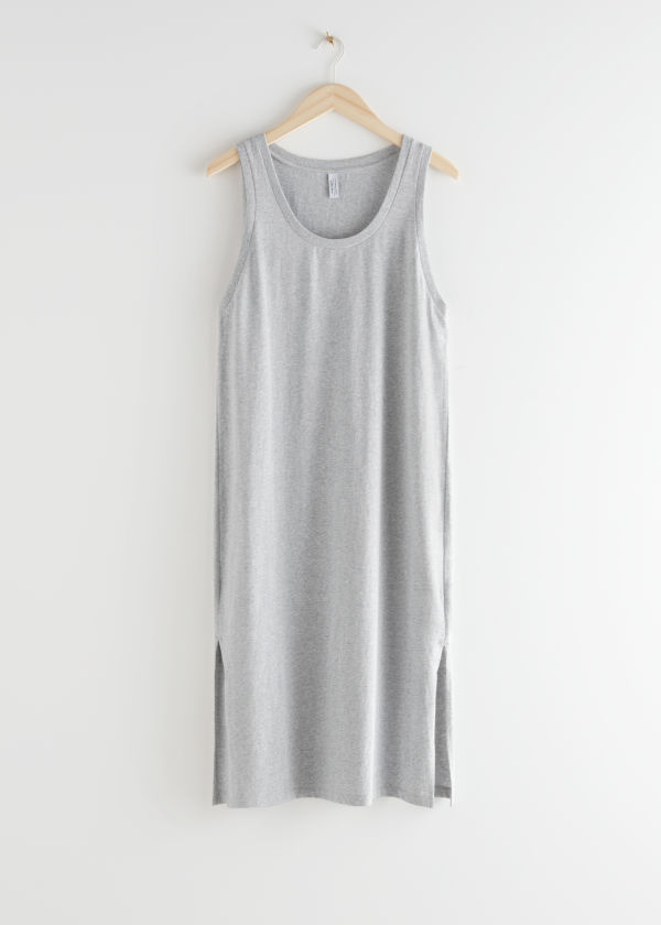 Relaxed Duo Slit Midi Dress