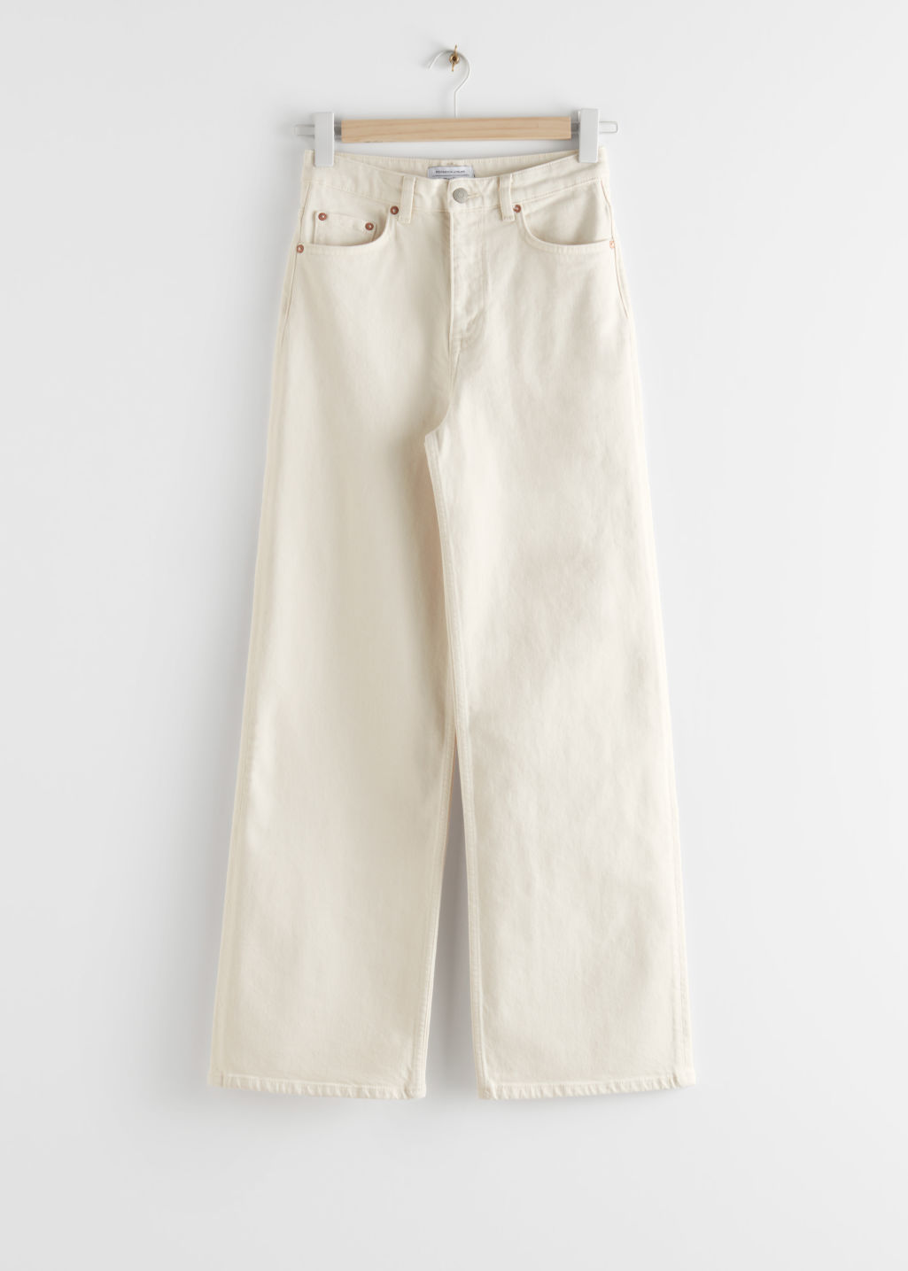 StillLife Front Image of Stories Relaxed High Rise Jeans in White