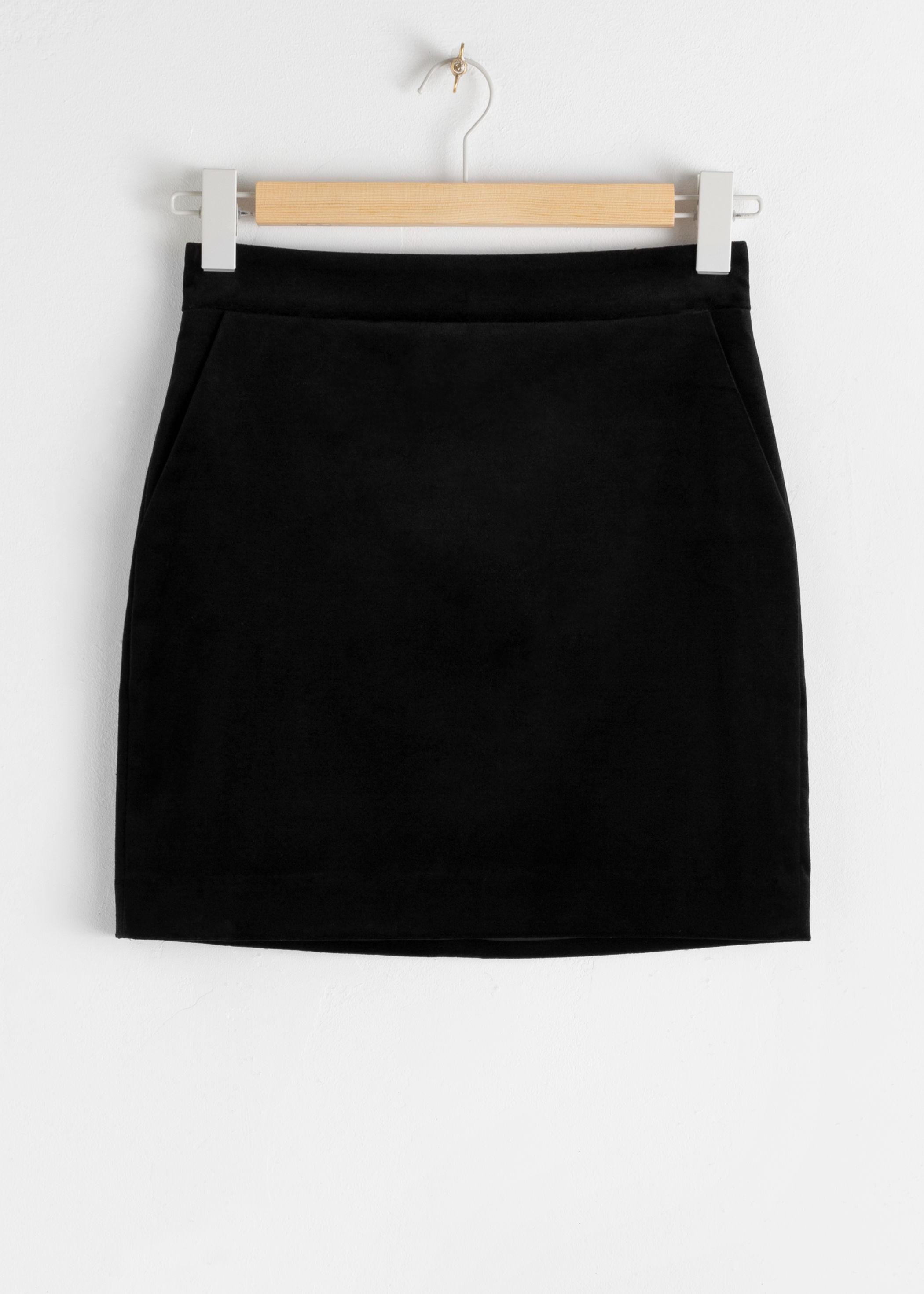 앤 아더 스토리즈 미니 펜슬 스커트 & OTHER STORIES Mini Pencil Skirt,Black