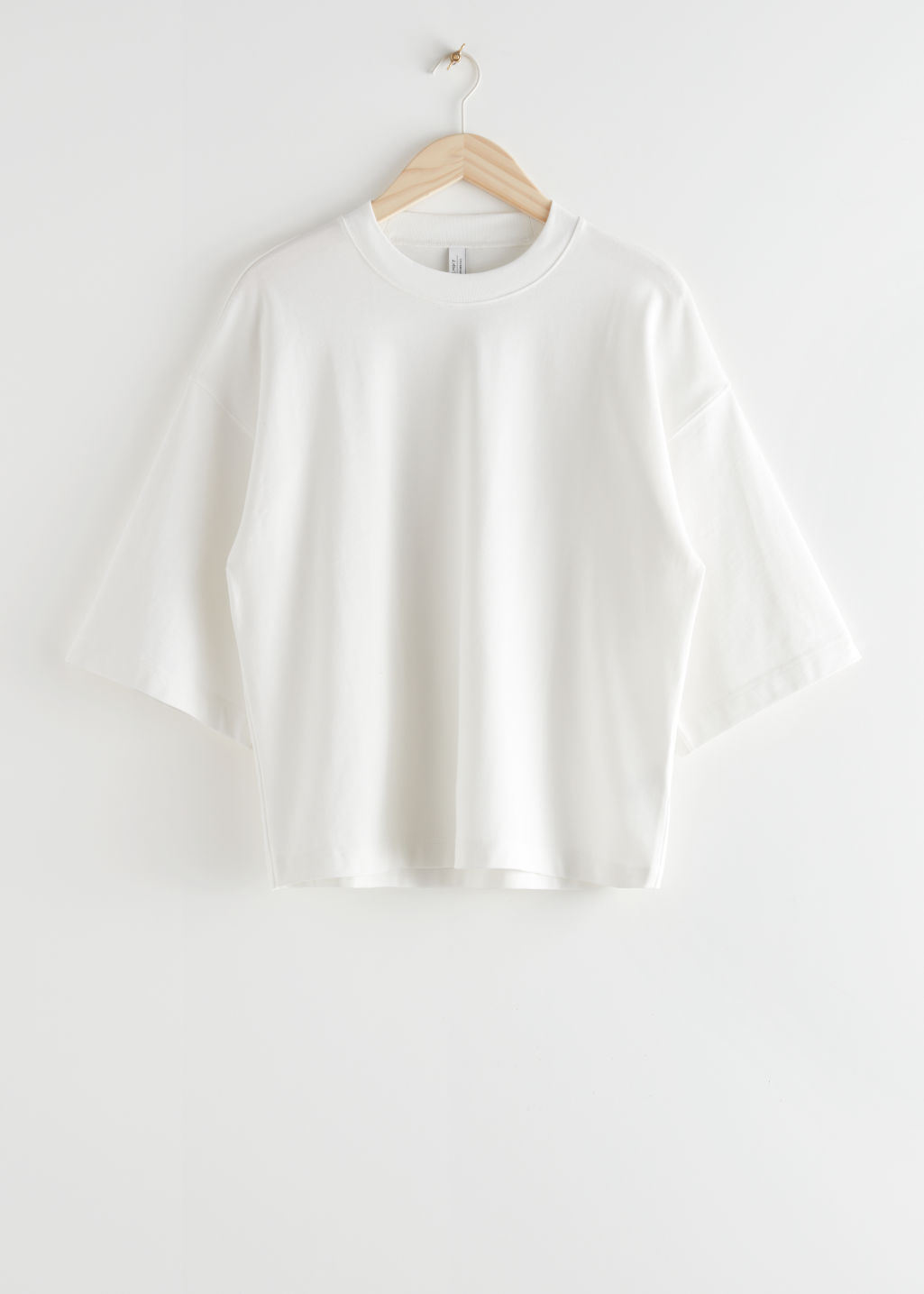 StillLife Front Image of Stories Boxy Crewneck T-Shirt in White