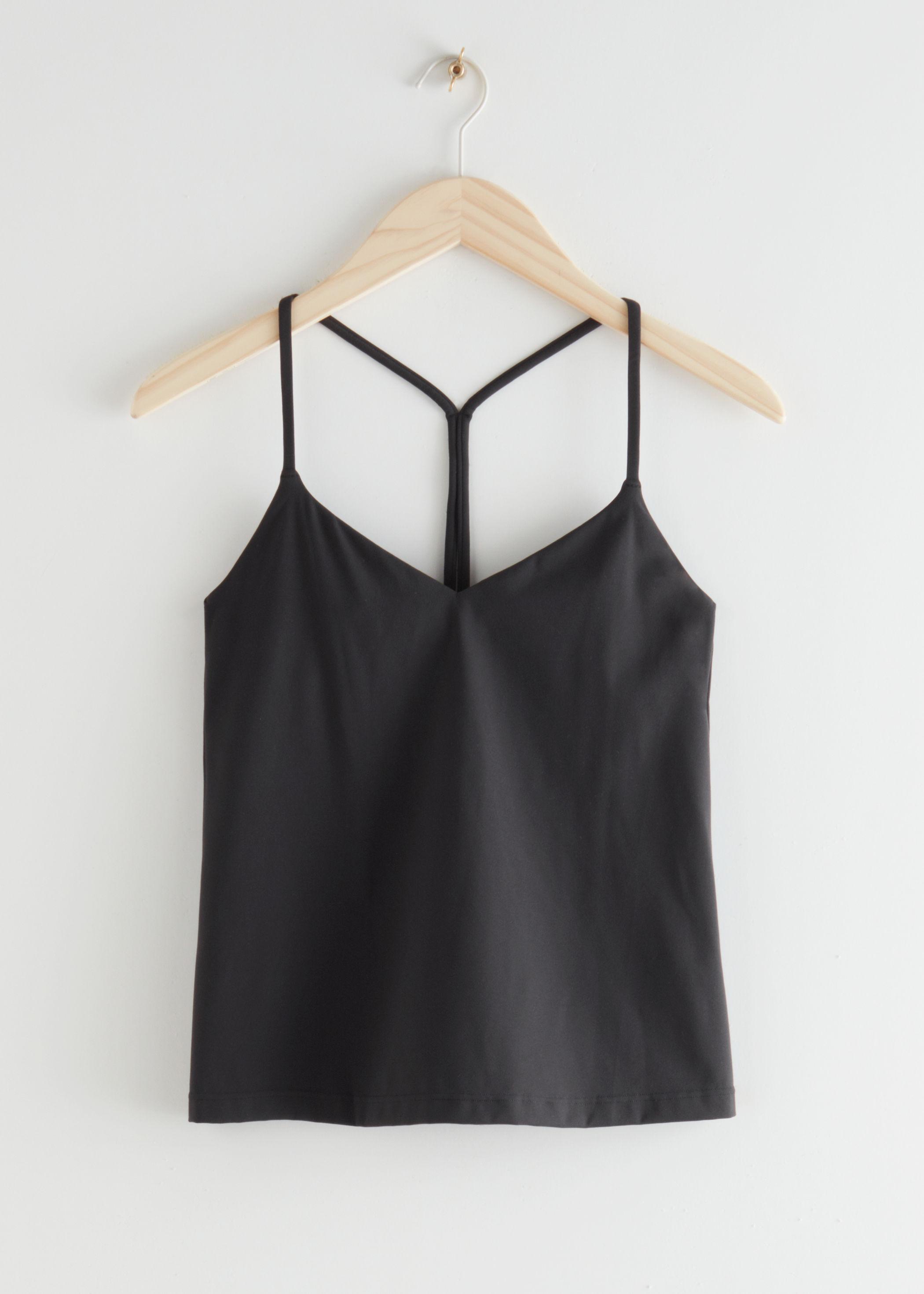 앤 아더 스토리즈 & OTHER STORIES Quick-Dry Yoga Top,Black