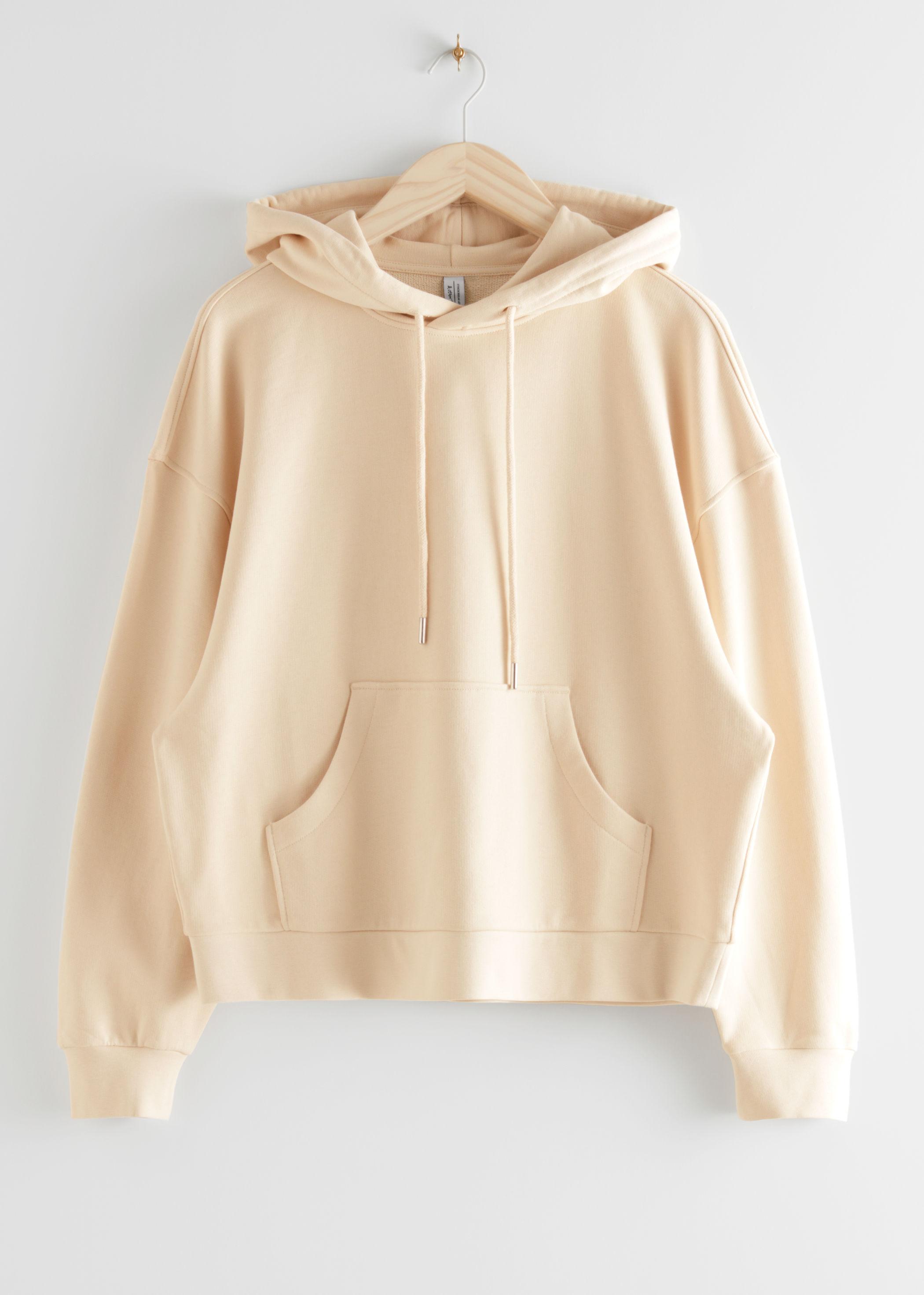 앤 아더 스토리즈 & OTHER STORIES Oversized Boxy Hooded Sweatshirt,Light Beige