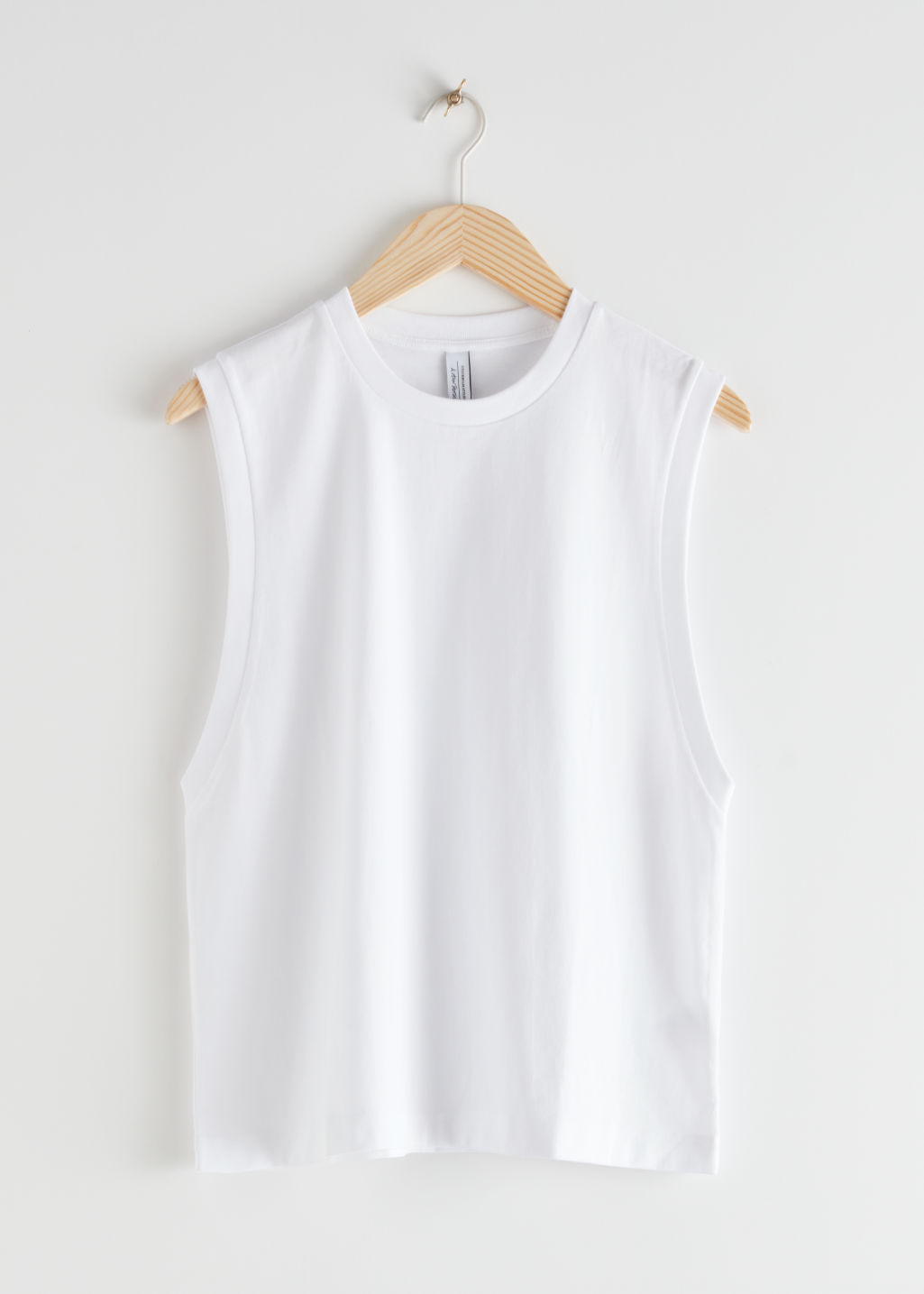 StillLife Front Image of Stories Organic Cotton Tank Top in White