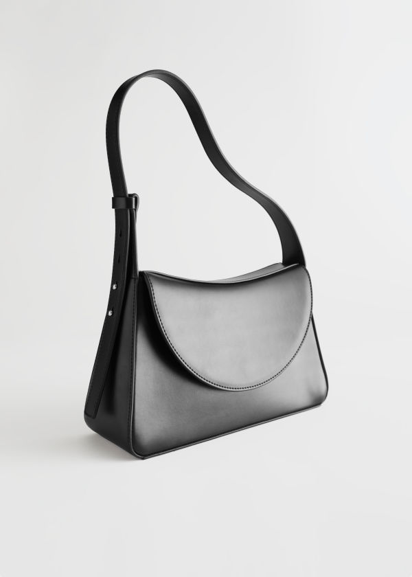 Structured Leather Shoulder Bag