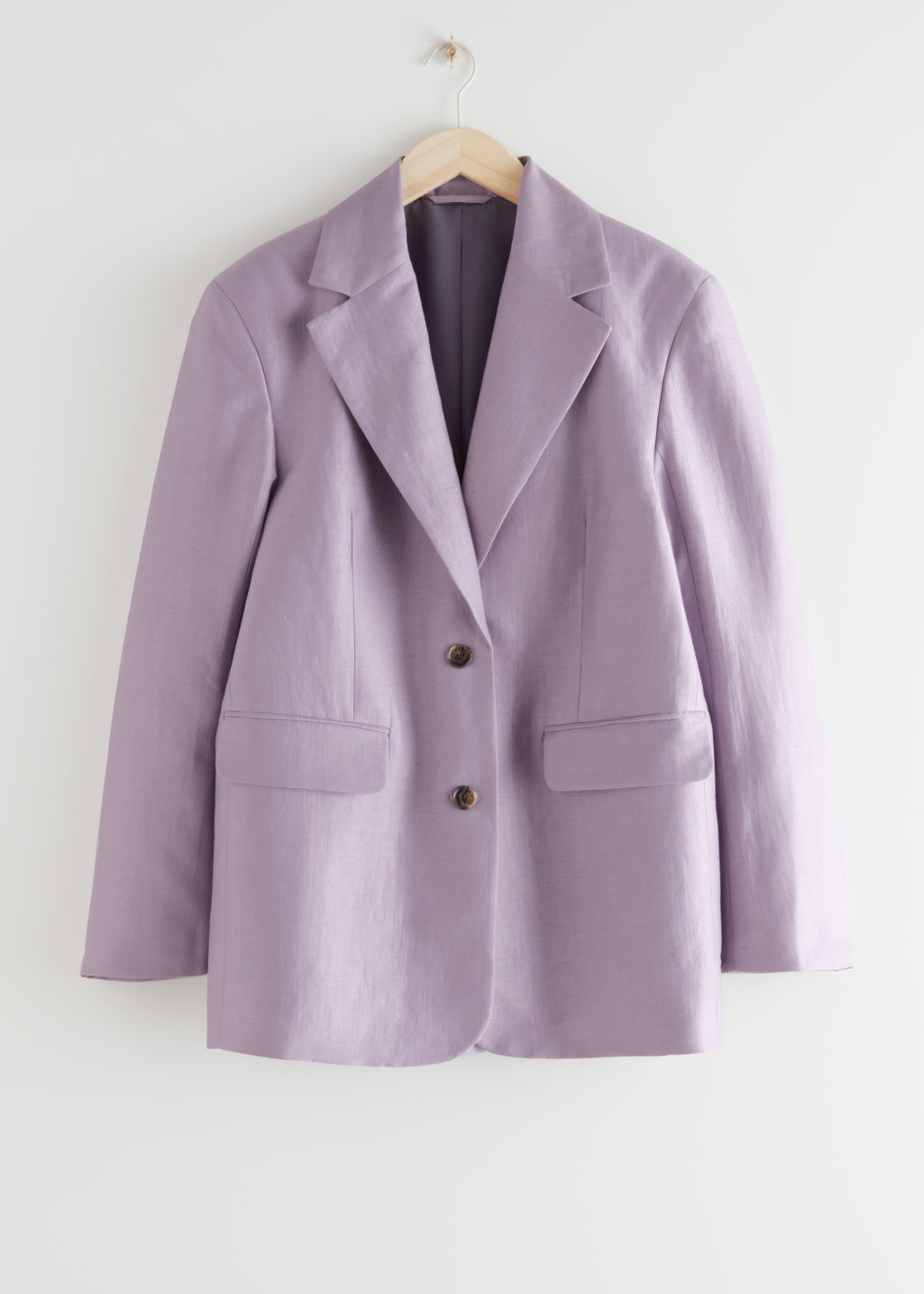 StillLife Front Image of Stories Boxy Oversized Blazer in Purple