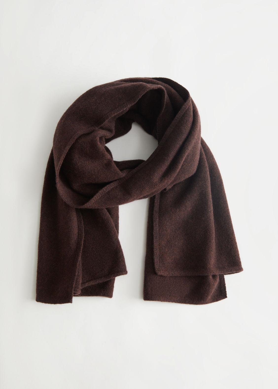 앤 아더 스토리즈 머플러 & OTHER STORIES Cashmere Blanket Scarf,Dark Brown