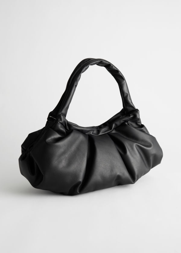 Gathered Leather Bag