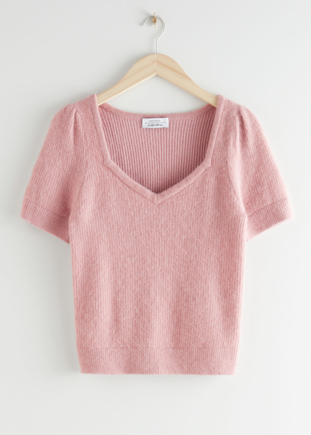 StillLife Front Image of Stories Alpaca Blend Knit Sweater in Pink
