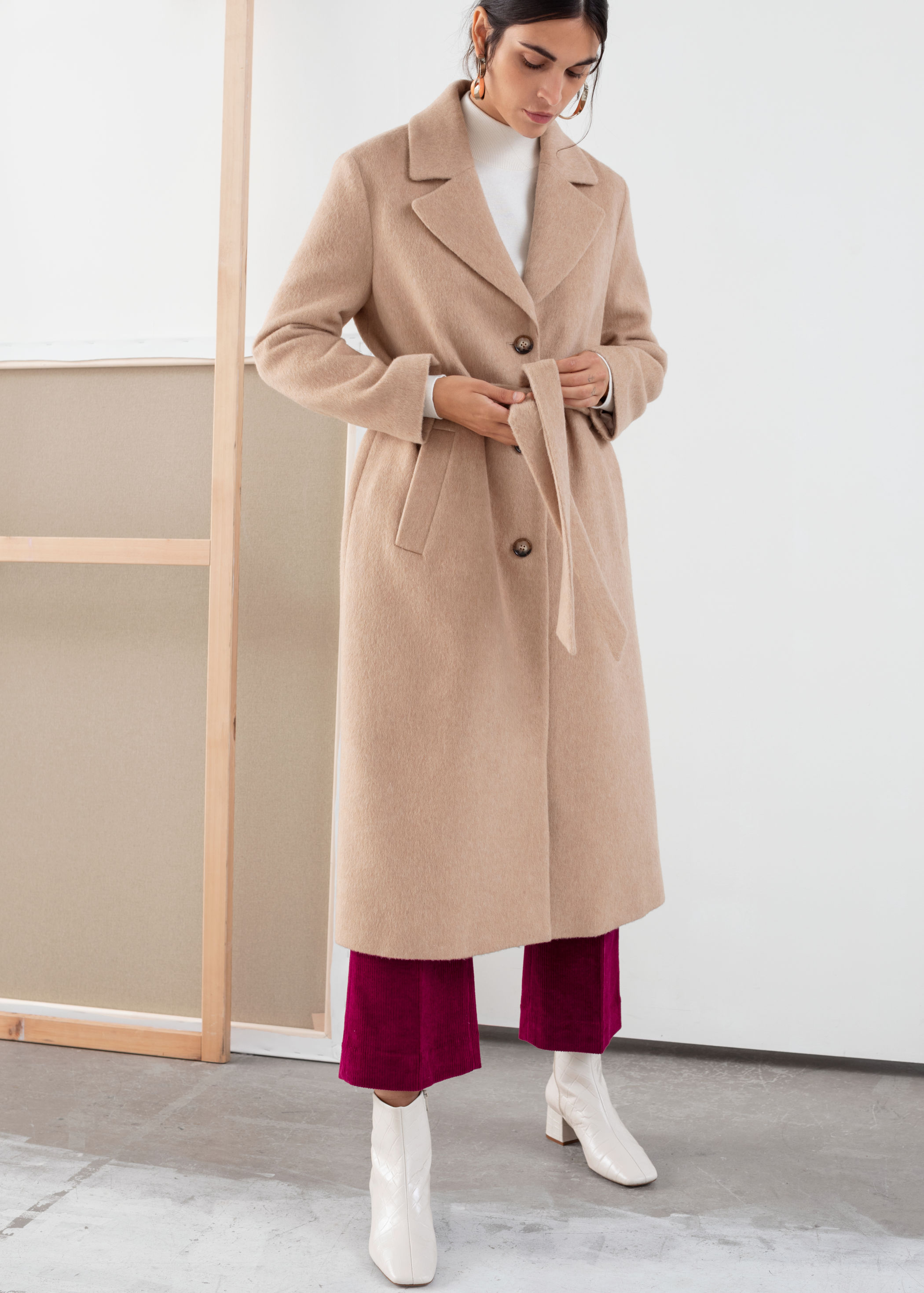 Oversized Alpaca Blend Coat by & Other Stories