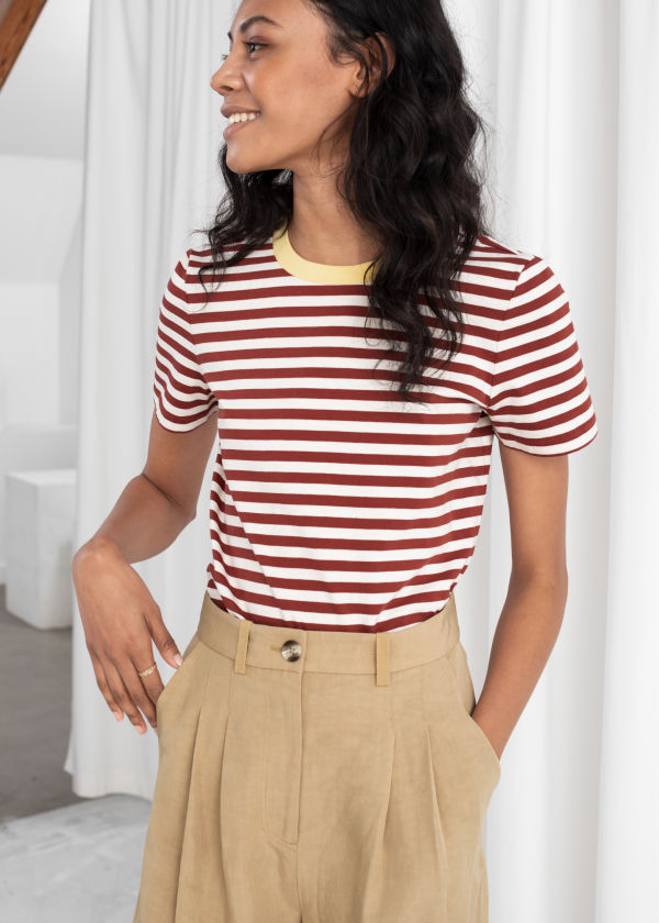 adcce9bc33221 Striped t-shirts - Tops - Clothing -   Other Stories