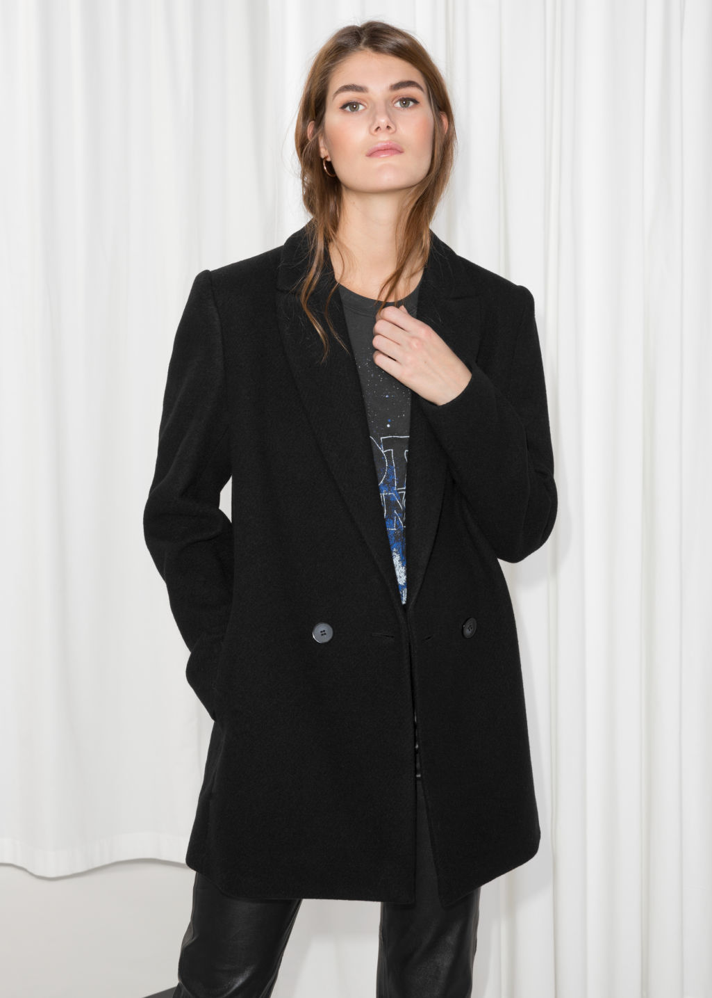 Double Breasted Blazer Black Blazers Other Stories