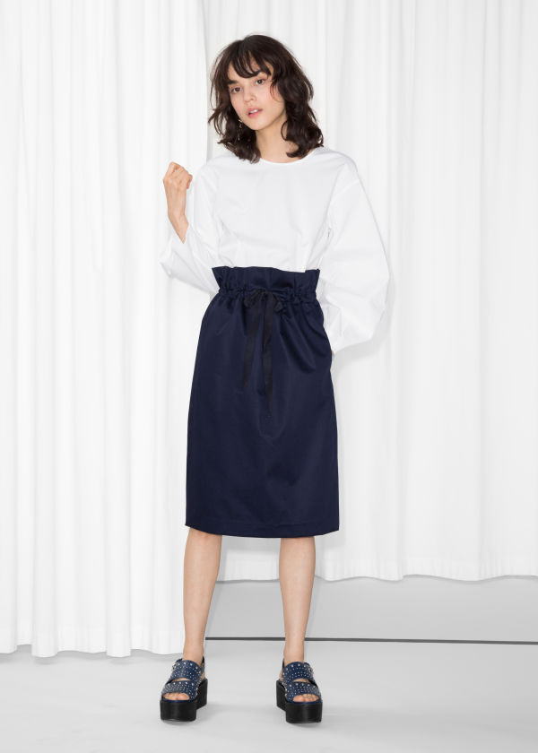 Grosgrain Drawstring Skirt