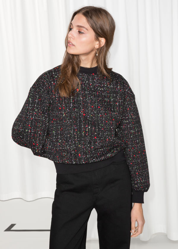 Cropped Voluminous Sweater
