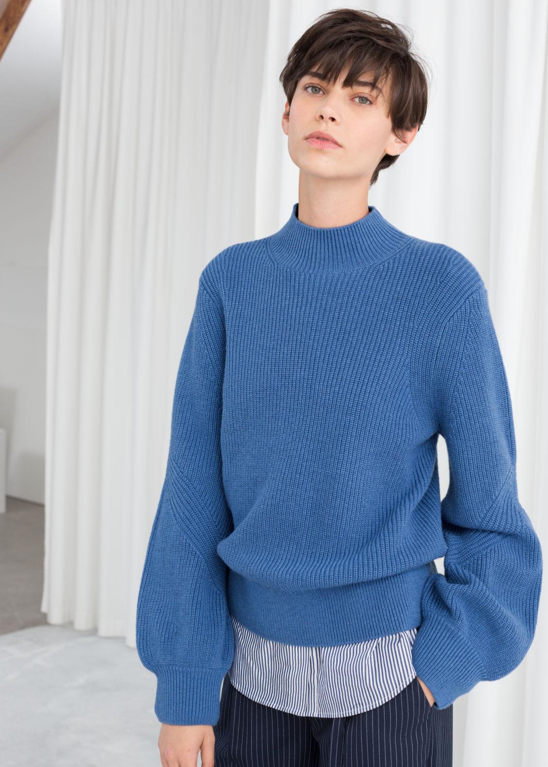 3b135eaca12cbf Balloon Sleeve Sweater - Off Wihite - Sweaters - & Other Stories