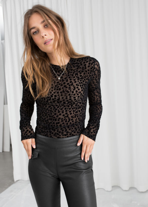 Velvet Dot Sheer Top