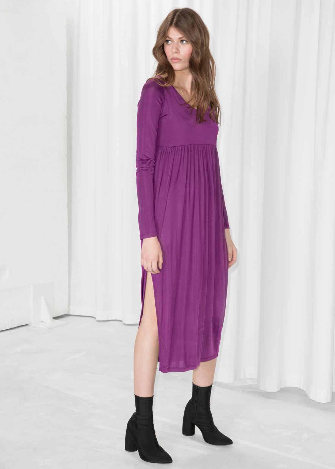 efd330de10d5 Midi Dress - Purple - Midi dresses -   Other Stories