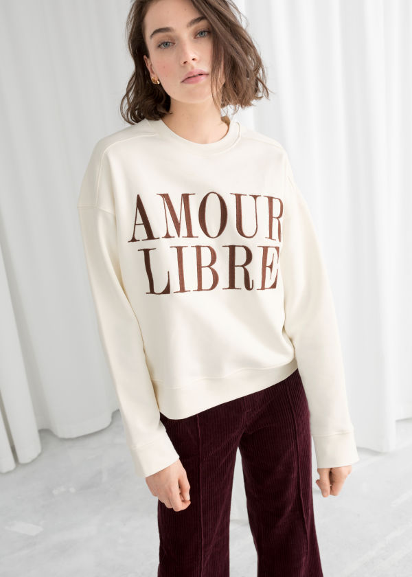 Embroidered Amour Libre Pullover