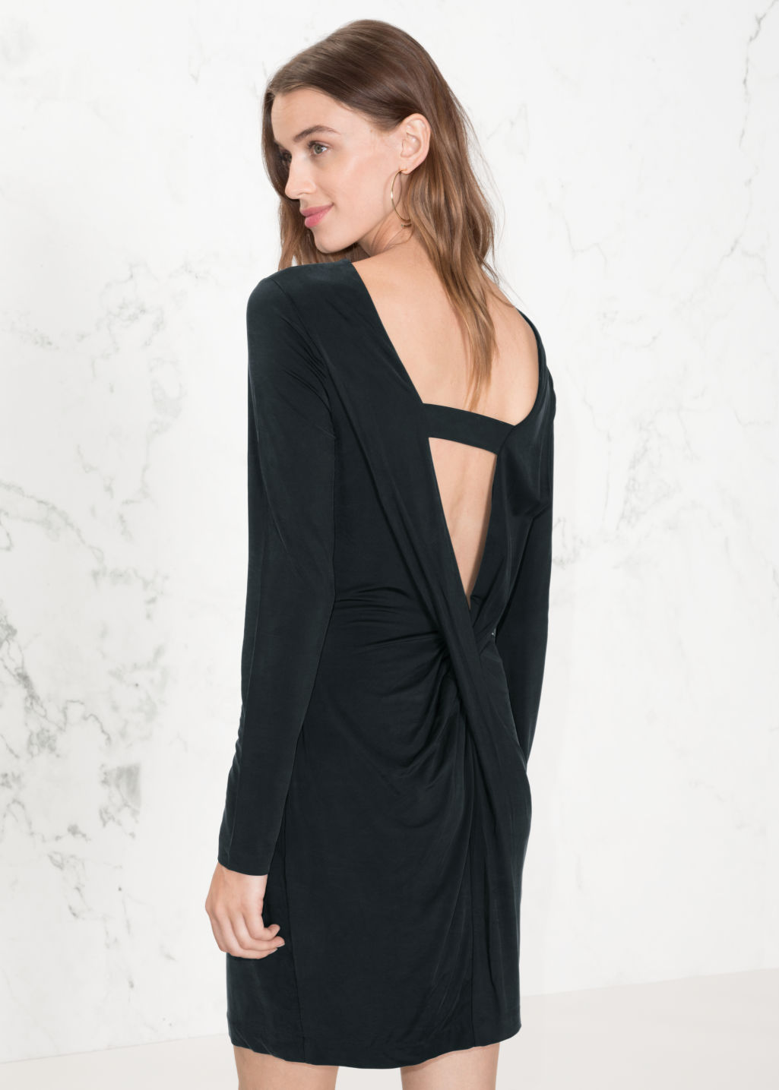 922e773c85 open back dress black – Little Black Dress | Black Lace Bridesmaid ...