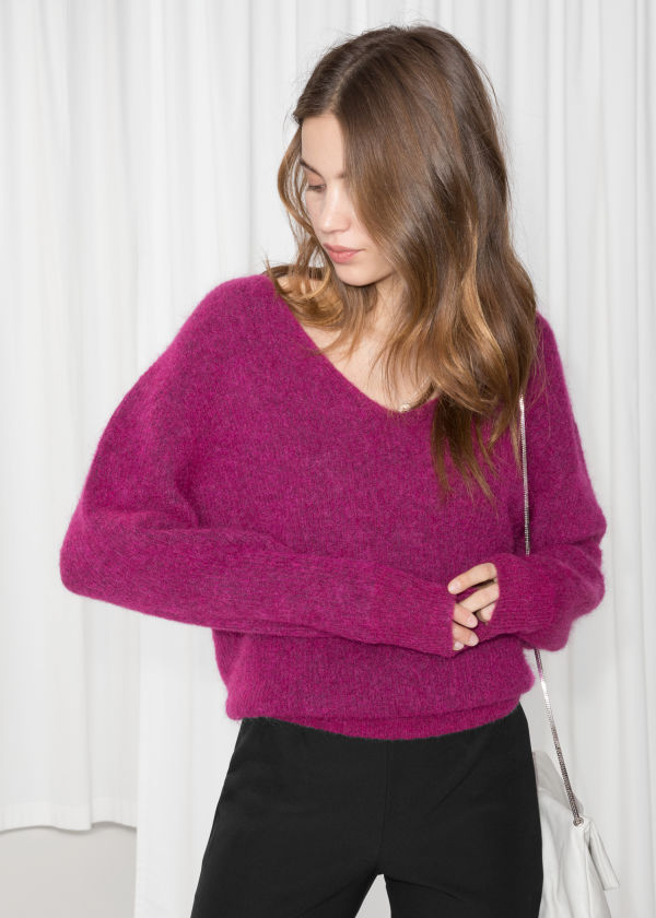 Relaxed V-Neck Sweater