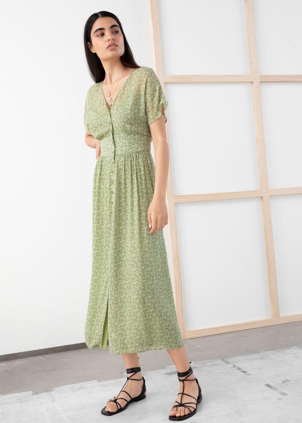 2de67f0b6c Floral Print Midi Dress ...