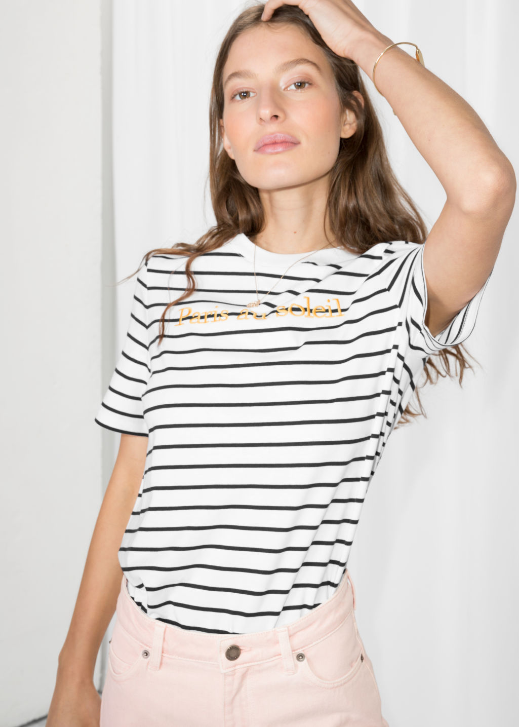 & OTHER STORIES Embroidered Striped Shirt Best Seller Sale Online Eastbay Cheap Online Clearance Prices aPRLAzEEs3