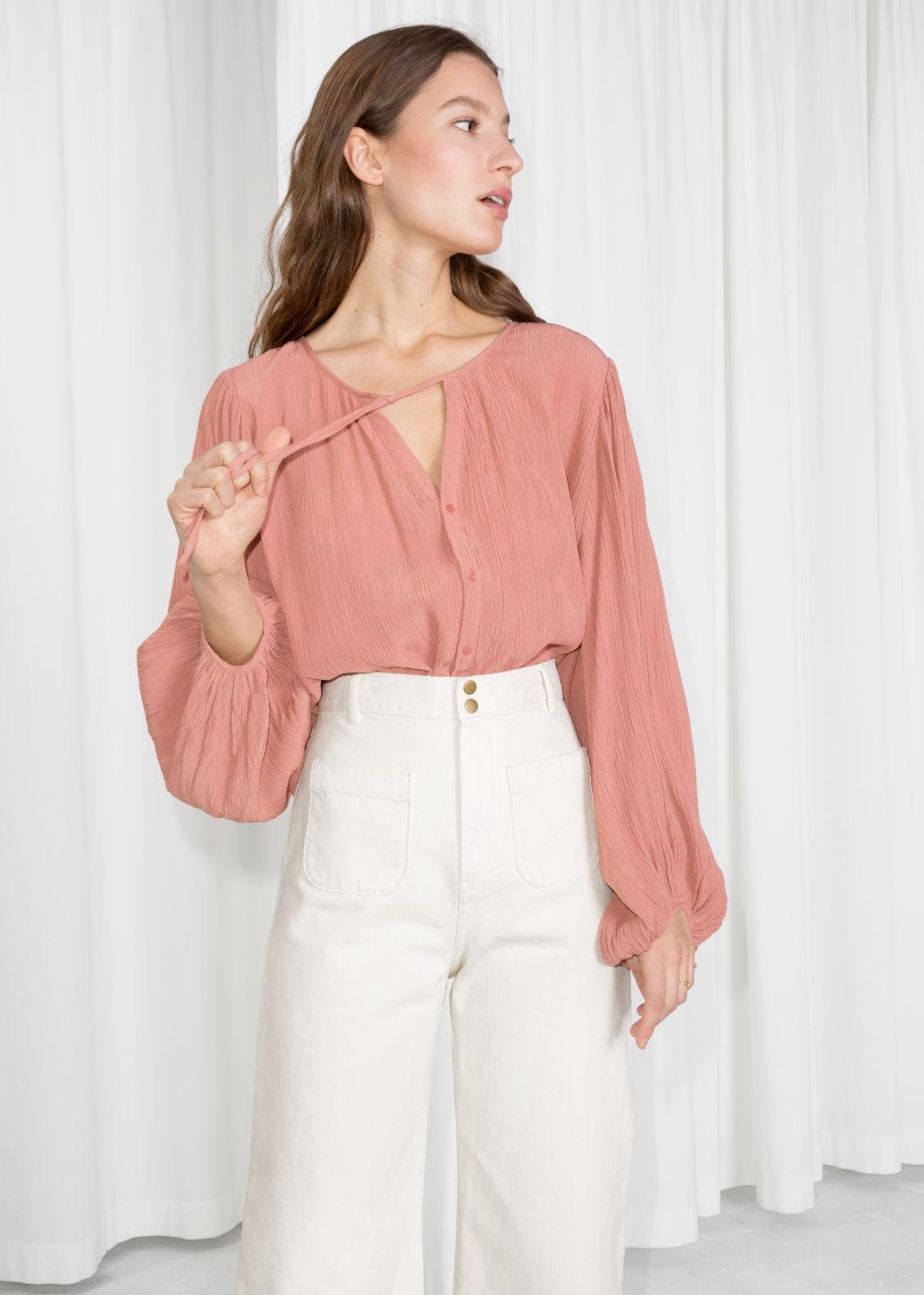 Justrix Women Long Sleeve Fashion Polka Dot Shirt Wear to Work Ladies Blouse