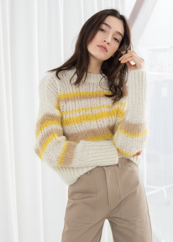 Wool Blend Chunky Knit Sweater