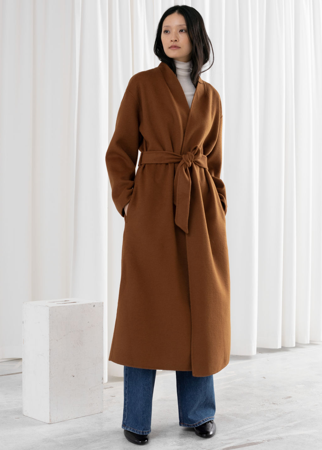 separation shoes 72dba a65fa Belted Wool Blend Coat - Camel - Woolcoats - & Other Stories