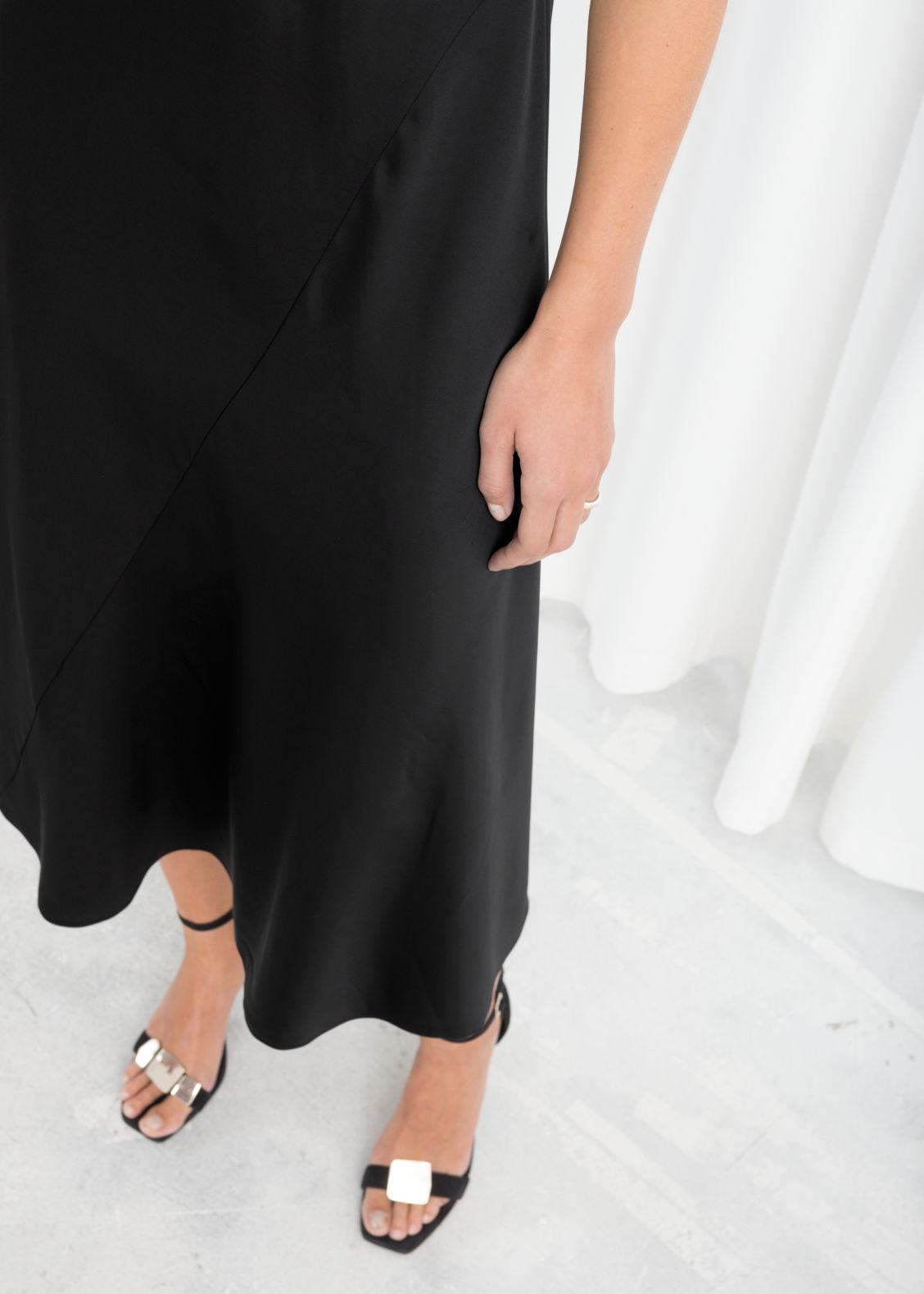 09d3a43719 Midi Slip Dress - Black - Midi dresses -   Other Stories