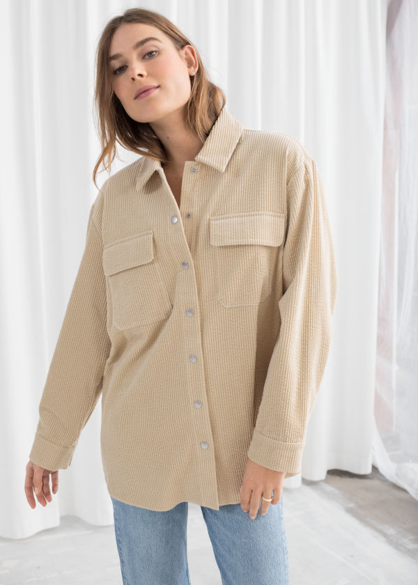 Oversized Corduroy Workwear Shirt
