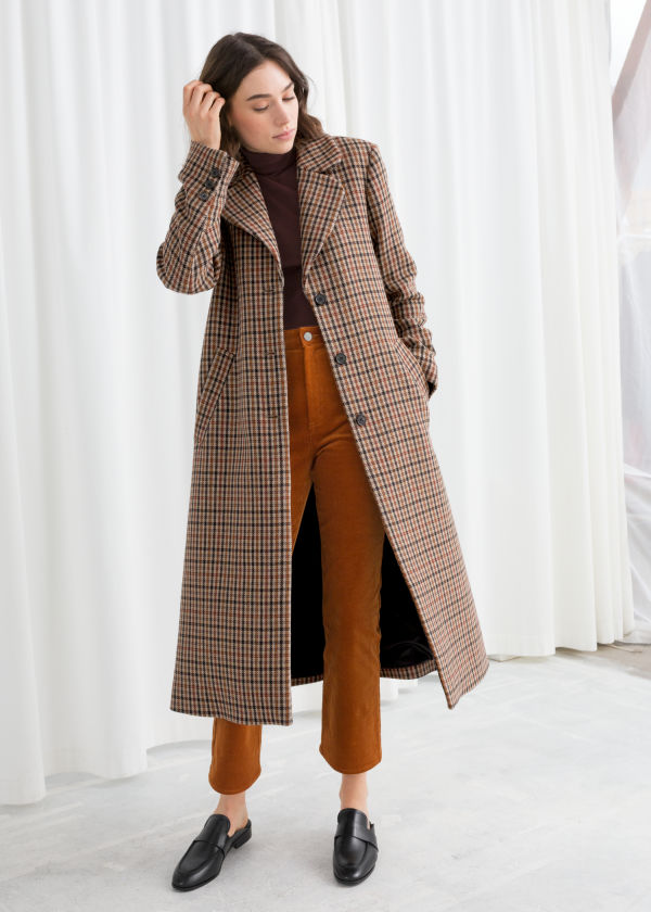 A-Line Wool Blend Belted Coat