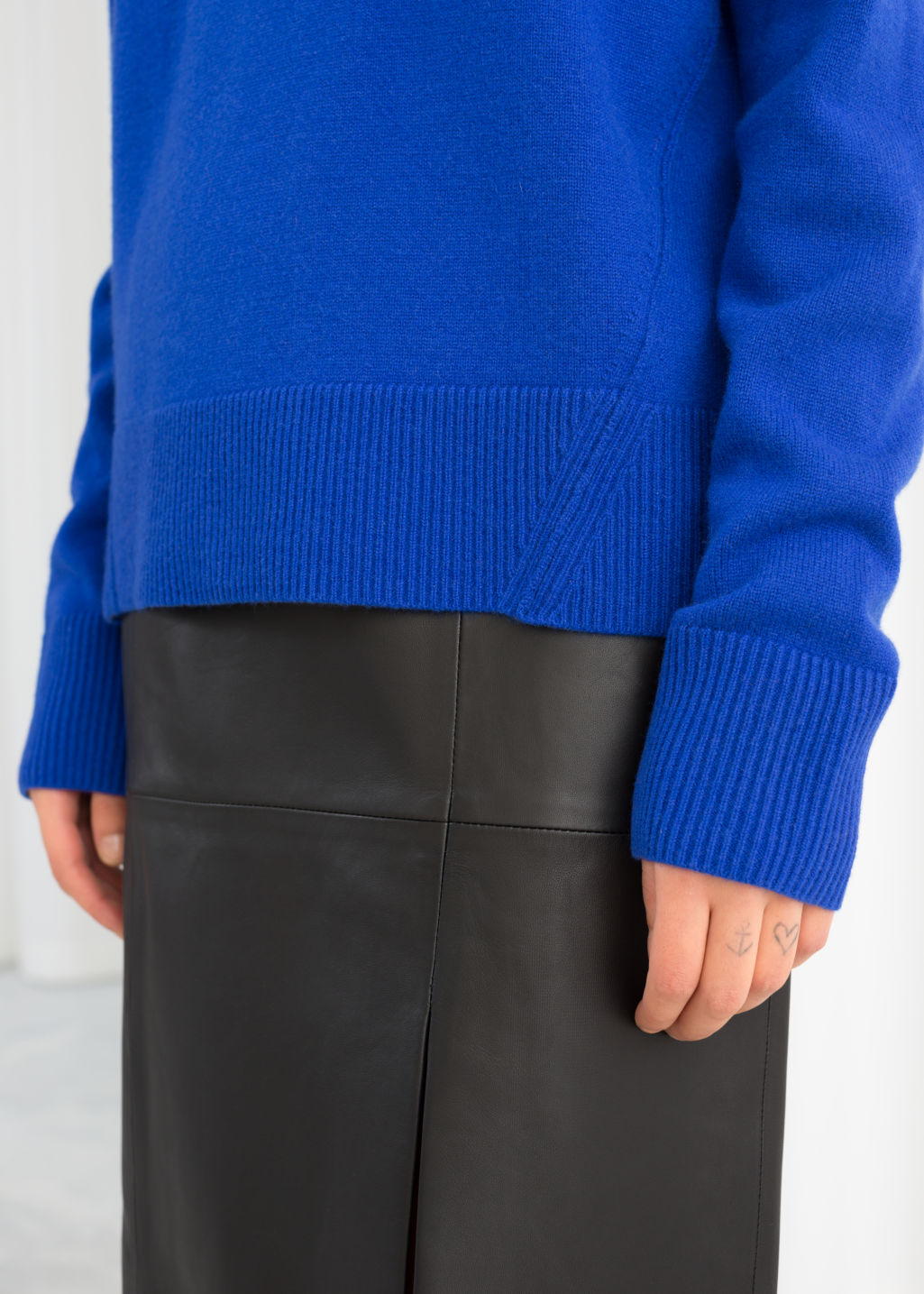 Relaxed Fit Cashmere Sweater Blue Cashmere sweaters & Other Stories