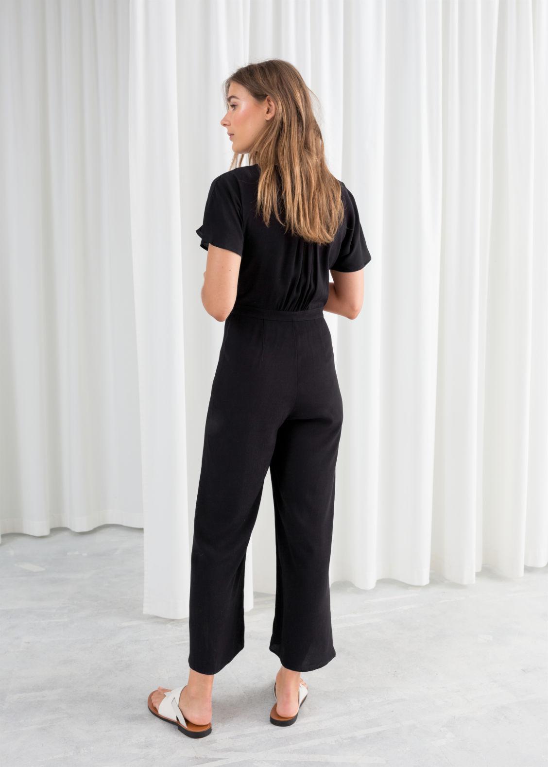 12c7a0628e42 Button Up Jumpsuit - Black - Jumpsuits   Playsuits -   Other Stories