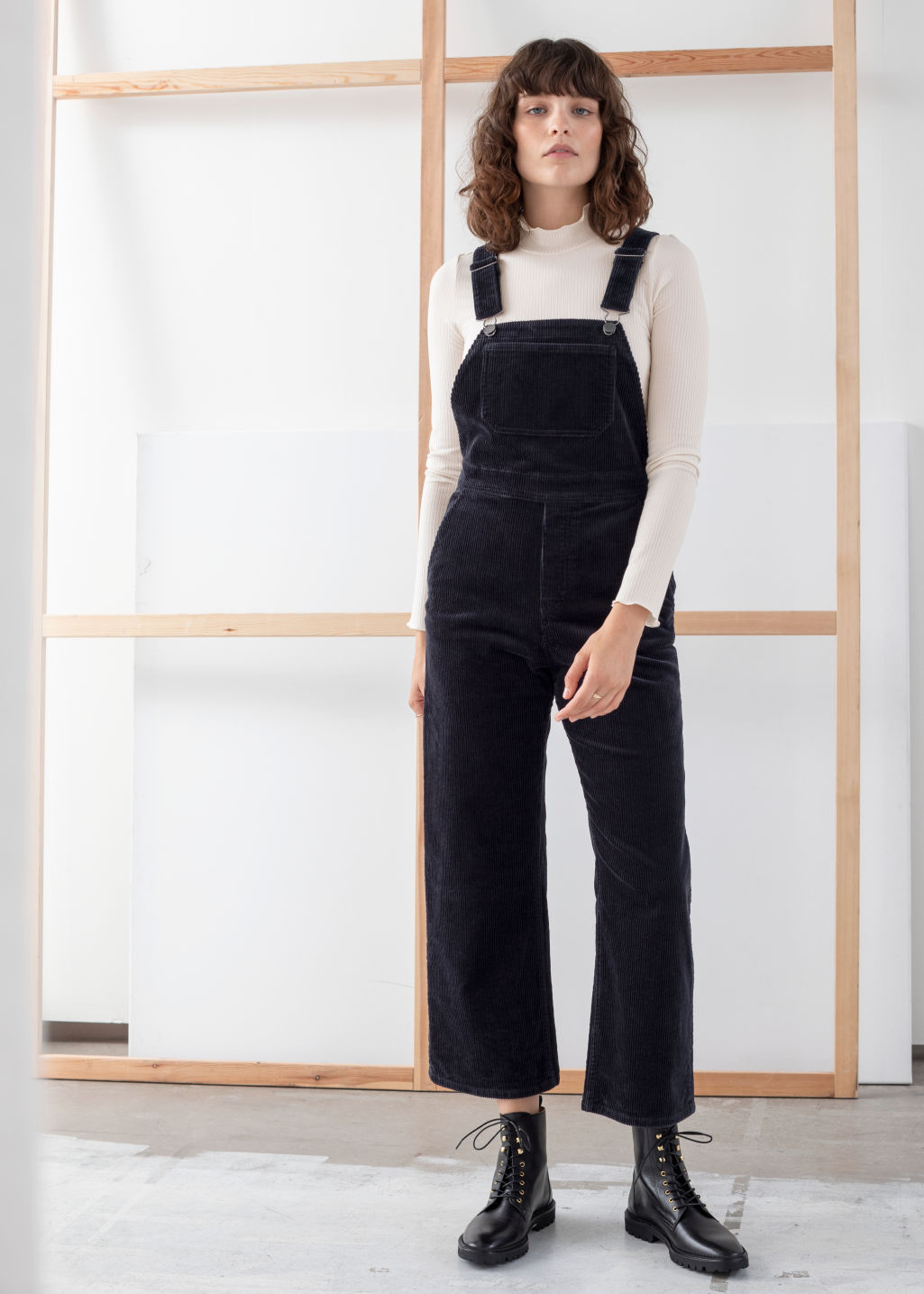 b87e69d1cf Wide Corduroy Overalls - Navy - Jumpsuits   Playsuits -   Other Stories