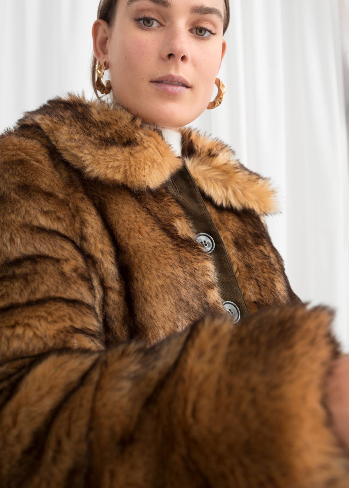 Fauxfuramp; Belted Stories Fur Faux Other Coat Beige QrCxBWdoe