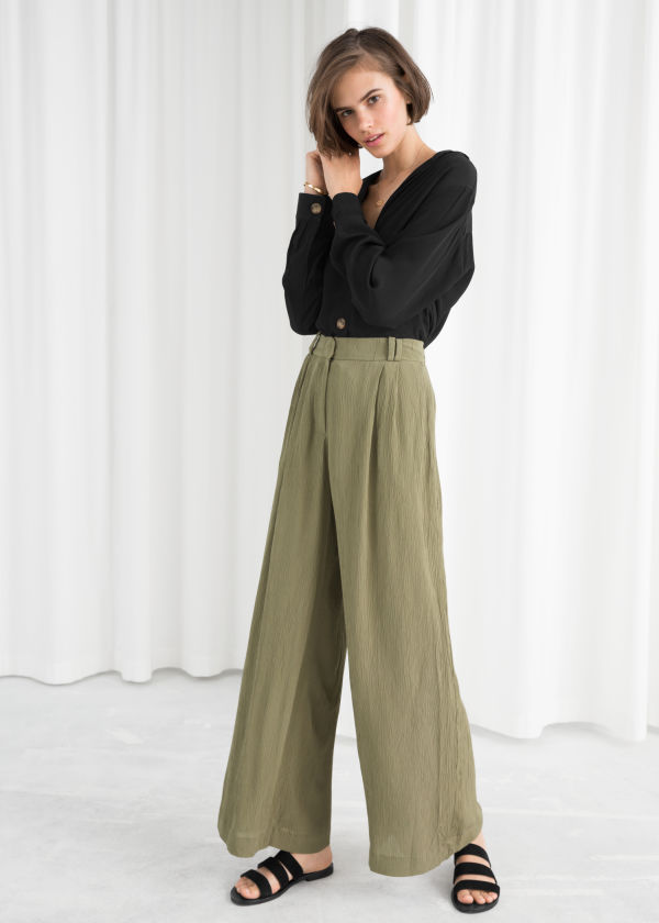 High Waisted Wide Trousers
