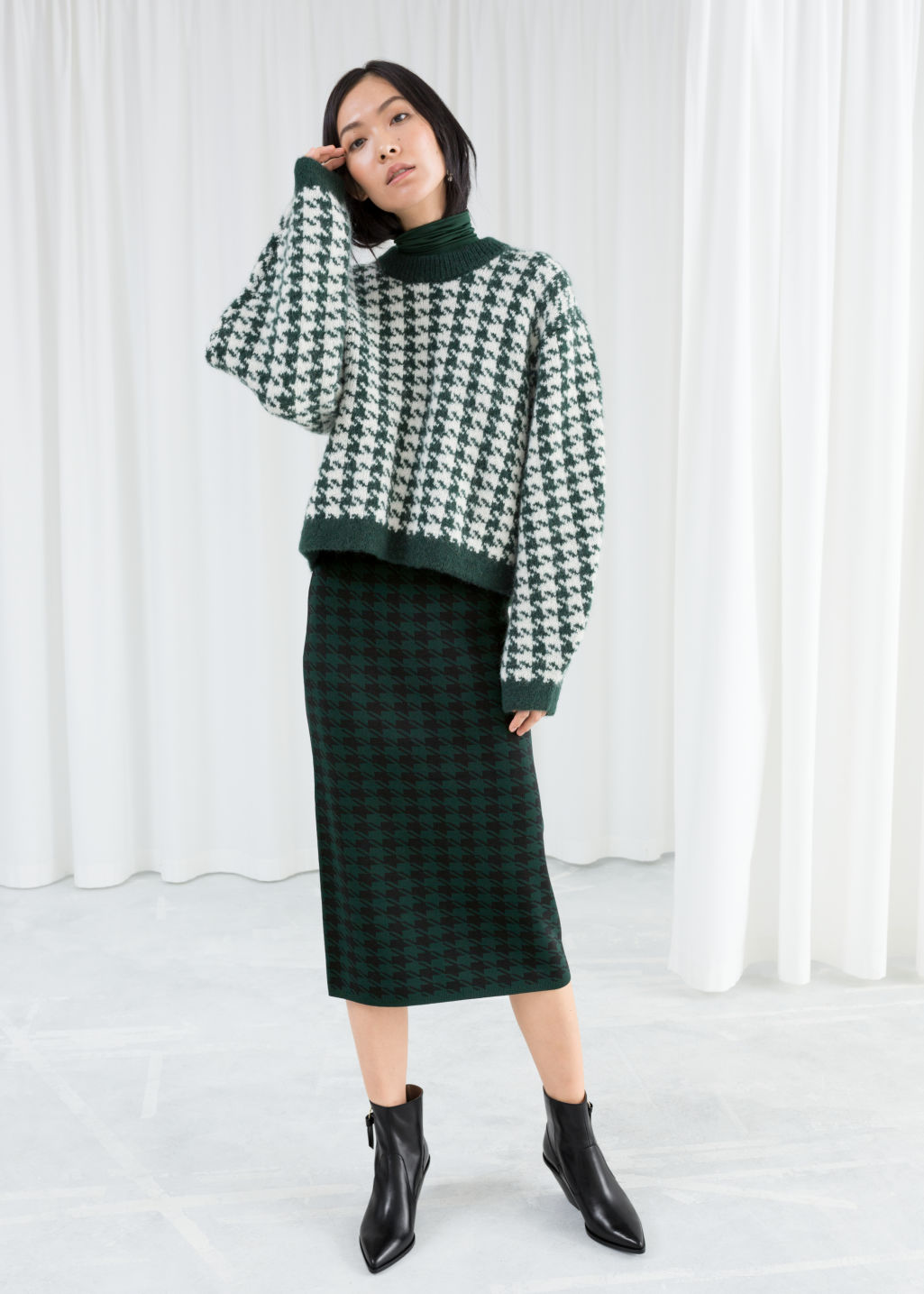 46bc5de6b Houndstooth Pencil Skirt - Houndstooth - Midi skirts - & Other Stories