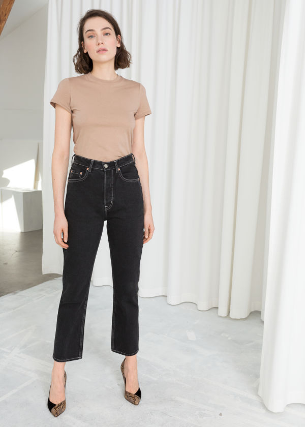 Cropped Straight High Rise Jeans