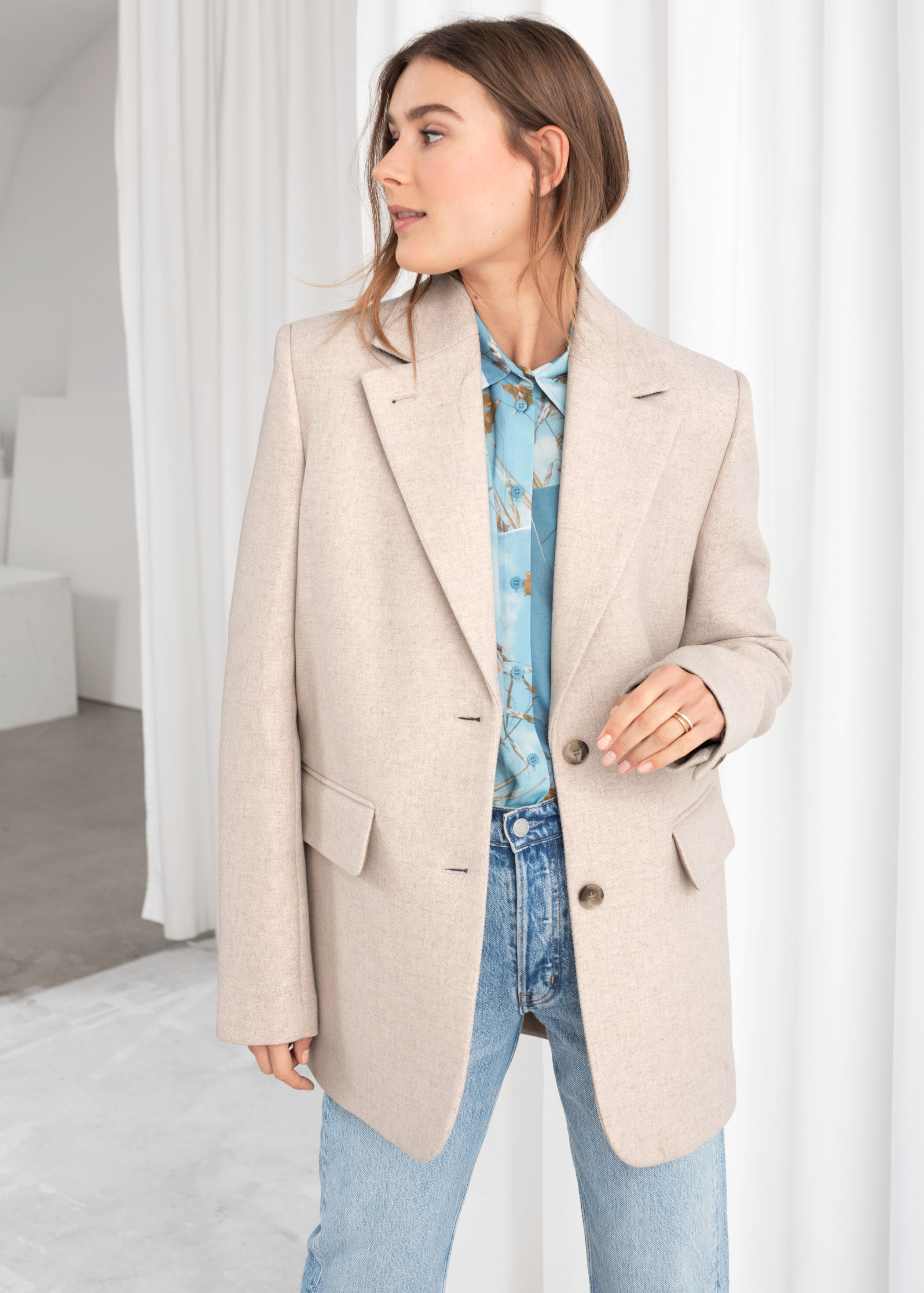 Wool Blend Oversized Blazer by & Other Stories