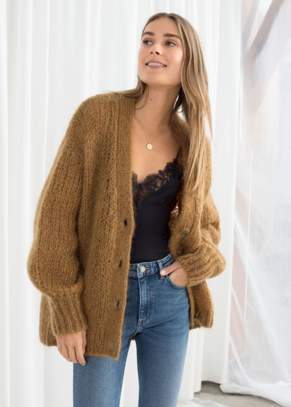 8da012e2b02aa Oversized V-Neck Cardigan ...